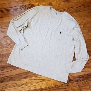 POLO Ralph Lauren ling sleeve gray pullover